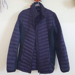 Down puffer coat, size M